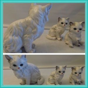 😍 Lefton 3 vintage CAT figurines made in Japan 😍